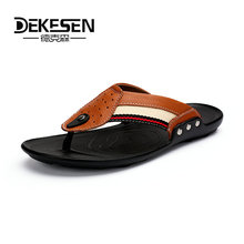 Buy DEKESEN Summer Shoes Men's Slippers Size 38-48 Beach Sandal Fashion Men Sandals Leather Casual Shoes Flip Flop Sapatos masculino for $19.61 in AliExpress store
