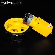 Buy 1Set 1:48 Remote Car Robot Gears Driver Motor + Tyre Tires Wheel Arduino Plastic Gears Intelligent Smart Car DIY Accessories for $2.05 in AliExpress store