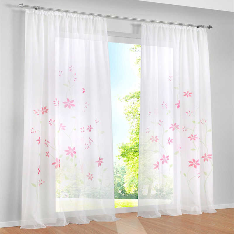 Luxury girls rustic floral purple curtains for bedroom windows jacquard curtains for living room rideaux pour le salon de luxe
