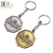 Fashion Personality fashion the Beatles badge metal car keychain key chain key ring keyring key holder model gifts