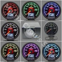 "Gre**y Gauge Oil Temp Gauge 7 Light Color LCD Display With Voltage Oil Temperature Gauge 62mm 2.5"" With Sensor Greddi Gauge(China)"