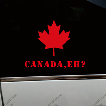 Canada, Eh? Red Maple Leaf Canadian Car Truck Decal Bumper Sticker Windows Vinyl Die cut ,choose size and color!