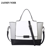 designer handbags high quality black and white bag fashion ladies shoulder trapeze bags handbags women's tote bag famous brands(China)
