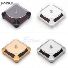 JAVRICK Solar Showcase 360 Turntable Rotating Jewelry Watch Ring Phone Stand Display ZB380
