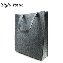 Buy Custom Printed Recycled Women Grey Felt Tote Bag Eco-friendly Felt Shopping Bag Solid Casual Fashion Designer Felt Grocery Bags for $9.56 in AliExpress store