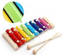 Child Kid Baby 8-Note Wooden Xylophone Musical Toys Xylophone Wisdom Music Instrument