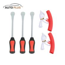 3 Tire Lever Tool Spoon + 2 Wheel Rim Protectors Tool Kit for Motorcycle Bike Tire Changing Removing(China)