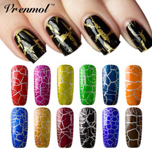 Vrenmol 1pcs New Arrival 12 Colorful Cracking Nail Polish Gel Lacquer Professional Crackle Shatter Gel Varnish(China)