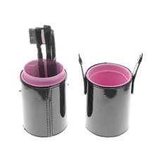 Cylinder Brush Holder 4Pcs Eyebrow Makeup Cosmetic Set Include Eyebrow Brush Eyebrow Tweezer Eye Shadow Brush Eyelash Brow Comb(China)