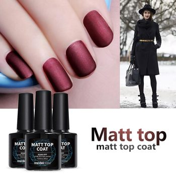 Modelones 10ML Matte Top Coat Nail Varnish Led Nail Gel Lacquer Long Lasting Soak Off Matte Top Coat Finish Nail Art Tips