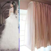 Wedding Dress Cover Transparent Wedding Dress Dust Cover Garment Bags Bridal Gown Bag Cover(China)