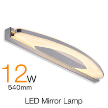 New Arrival  Modern Bathroom Led Mirror Light AC 85V-220V Wall Light 12W Indoor Waterproof Led Wall Lamp For Bathroom Sconce