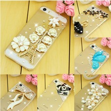 New 2015 Luxury Rhinestone Diamond Case Cover For iPhone 4 iphone 4s Case ,Hard Back Cover Skin mobile Phone Case Cover(China)