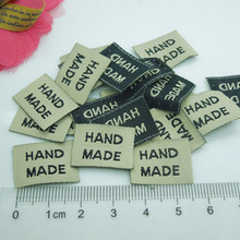 New Arrivals 300pcs ribbon label tag with handmade sign Garment Tag Accessories 20*15mm
