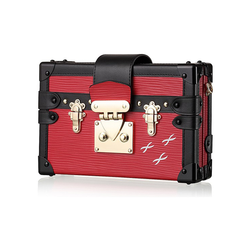 Small Acrylic Purse 2017 Day Clutch Evening Purse Vintage Style Women Leather Handbag Designer Trunk Box Shoulder Bag<br><br>Aliexpress