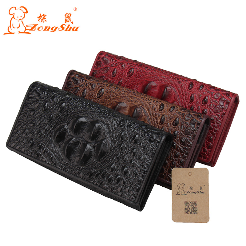 Women Wallets Brand Design High Quality Genuine Leather Wallet Female Hasp Fashion Dollar Price Long Purse Card Holder<br>