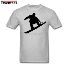 Fashion Snowboarder jumps T-shirt Men's Short Sleeve Crewneck Cotton Plus Size Couple Tee Shirts
