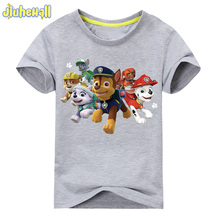 2017 Boy Girls Short Sleeve T-shirt Baby Cartoon Dog Printing Tee Tops Children Cotton Clothes For Summer Kids Costume ACY002