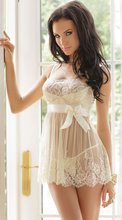 Plus size sexy transparent butterfly spaghetti strap nightgown fashion plus size babydolls