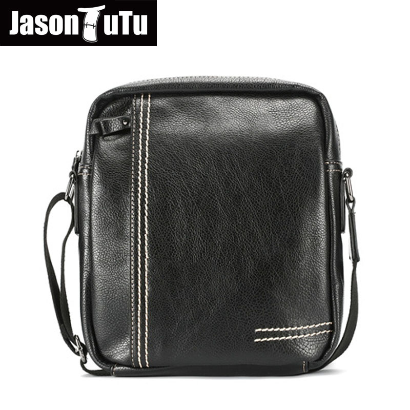 JASON TUTU Brand Design Men bag Small Shoulder bags Casual Crossbody bag Good quality Black PU leather Men messenger bags B508<br>