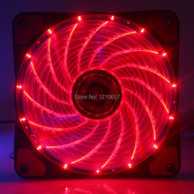 10PCS lot 4Pin 12V Hydraulic Cooling CPU Heatsink Fans LED Red Light for Computer PC Case 120 x 25mm