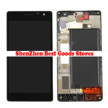 Touch Screen Digitizer + LCD Display Panel Assembly With Front Housing Front Frame For Nokia Lumia 730 735 Repair Part