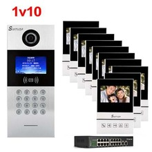 "SMTVDP New TCP/IP HD digital video intercom doorbell 4.3"" screen, residential intelligent electronic access control system 1V10(China)"