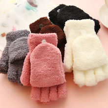 1 pair Hot Sale Fashion Women Fingerless Winter Fall Hand Wrist Warmer Winter Gloves clothing accessories(China)