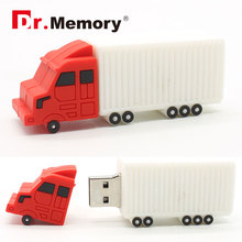 car style usb flash drive mini truck pendrive 8gb 32gb 64gb freight train memory stick 4gb 16gb toy gifts creative usb(China)
