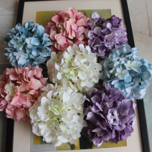 1PC DIY Artificial Flower Fake Carola Hydrangea Heads Bouquet Christmas Wedding Arrangement Home Decoration 4 Colours