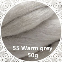 Free shipping handmade Wool Felt for felting 50g Warm gray  Perfect in Needle Felt 37#