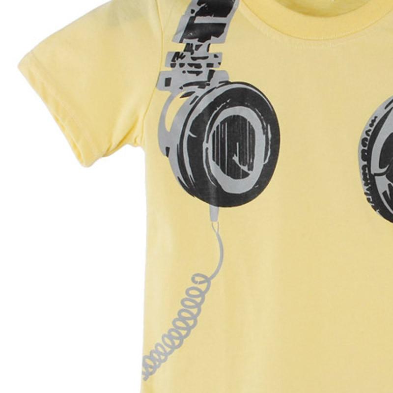 Toddler Boy Headphone Print Children T-shirts 23