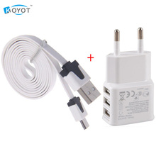 EU plug  Adapter 3 Ports 5V 2A + micro usb cable charger data for samsung galaxy note 3 s3 i9500 s4 for sony xperia z1