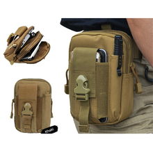 Outdoor Tactical Holster Military Hip Waist Belt Bags for iPhone 6S Camping Hiking Travel Smartphone Pouch Case for Galaxy S6