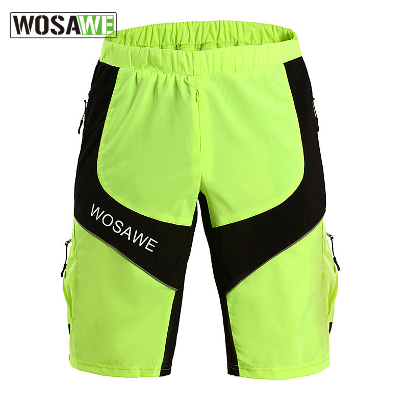 Wosawe Cycling Windproof MTB Shorts Outdoor Sports Running Shorts Anti-sweat Safety Reflective Breathable Cropped Underwear<br><br>Aliexpress