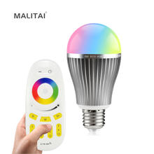 Original E27 9W RGB RGBW RGBWW Mi Light LED lamp AC 85V-265V 2.4G RF Wifi Remote Control Smart Bulb Night Atmosphere lighting