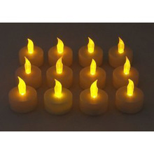 12 in 1 Flameless Candles Flicking LED Tea Light Candles Battery Tealights Set