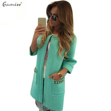 Gamiss Women Trench Coat Autumn Women Long Coat Open Stitch Trench Coat for Women Fashion Trench Coat Chaquetas Mujer Outwears