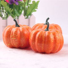 5 pcs/lot Artificial Plastic Pumpkins Miniature Crafts Fairy Figurines Halloween Home Decoration Accessories Toys YW-013(China)