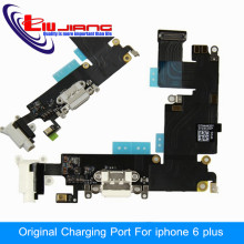 "100% Original Charging Port connector dock Microphone Headphone jack Flex Cable for iPhone 6 Plus 5.5"" Replacement Parts"