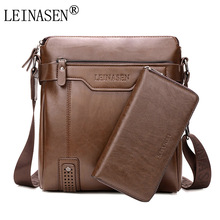 LEINASEN Brand 2017 casual Men Messenger Bags Crossbody Bags Men's Shoulder Bag Hot Selling High Quality pu business Briefcase(China)