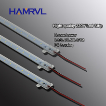10pcs  ac 220v LED rigid strip Driverless for T5 T8 Tube, 5w 6w 8w 10w 220v SMD 5730 2835 led pcb bar light no need power