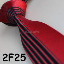 Cheap Sell ! 2018 Latest Style Fashion/Business Red/Dark Navy Striped/Dual Front high quality skinny ties for men/neckties adult(China)