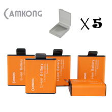 CAMKONG 5X1050mAh Rechargable Camera Battery For SJCAM SJ4000/ SJ5000/ SJ7000/ SJ8000/ SJ9000 , EKEN H9 H9R H3 H3R H8PRO Camera(China)