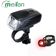 Meilan X1 Bike Light Led Bicycle headlight smart 6models Waterproof Cover Cycling  Accessories