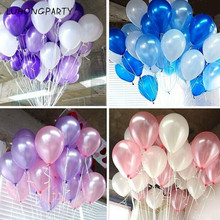 cheap 100pcs 10'' 1.2g Round Shape Latex Pearl Balloons Party Decorate Valentine's Day Happy Birthday Wedding Decoration Balloon
