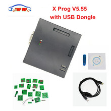 2017 DHL Free Newest XPROG V5.55 XPROG M 5.55 ECU Programmer with USB Dongle X prog Chip Tuning Tool One Year Warranty
