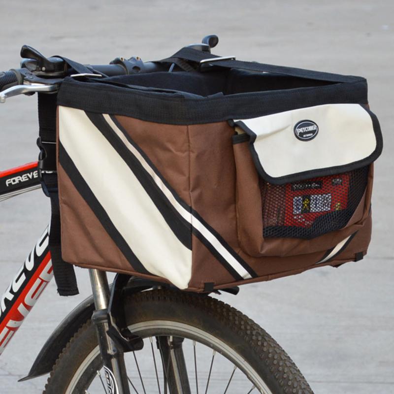 Pet dog bicycle carrier bag7