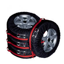 4Pcs Spare Tire Cover Case Polyester Winter and Summer Car Tires Storage Bag Automobile Tyre Accessories Vehicle Wheel Protector(China)