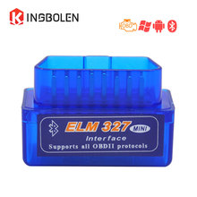 Super Mini ELM327 Bluetooth V2.1 OBD2 OBDII Interface Auto Diagnostic Tool ELM 327 reader Android/PC Torque elm327 V2.1 adapter